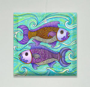 Two Fishes Ornament/Suncatcher