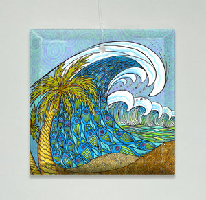 Palm Trees and Waves Ornament/Suncatcher