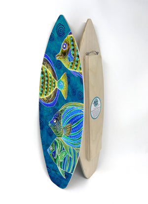 FIsh School Surfboard Wall Art