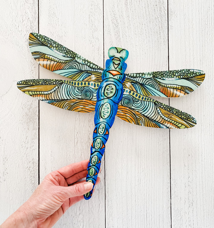 Blue Dragonfly - Dragonfly Shape