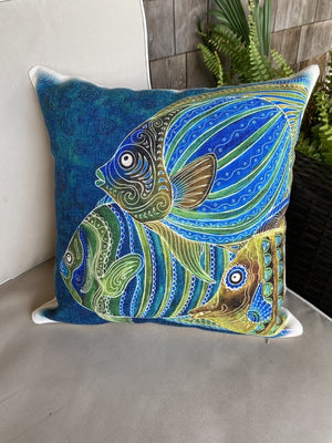 Fish School Pillow