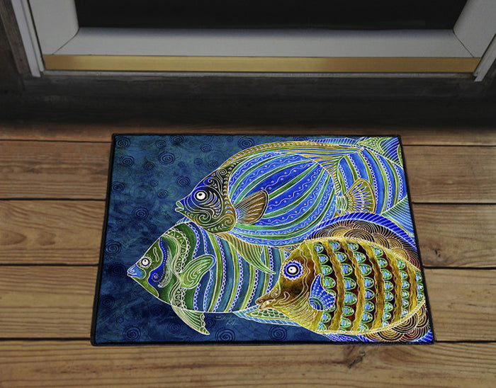 Fish School Door Mat