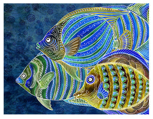 Fish School Color Print
