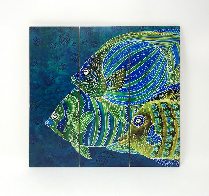 Fish School Wall Art