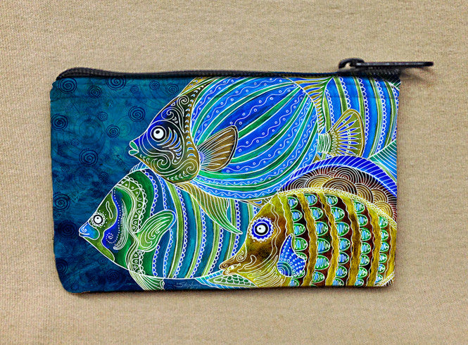 Fish School Coin Bag