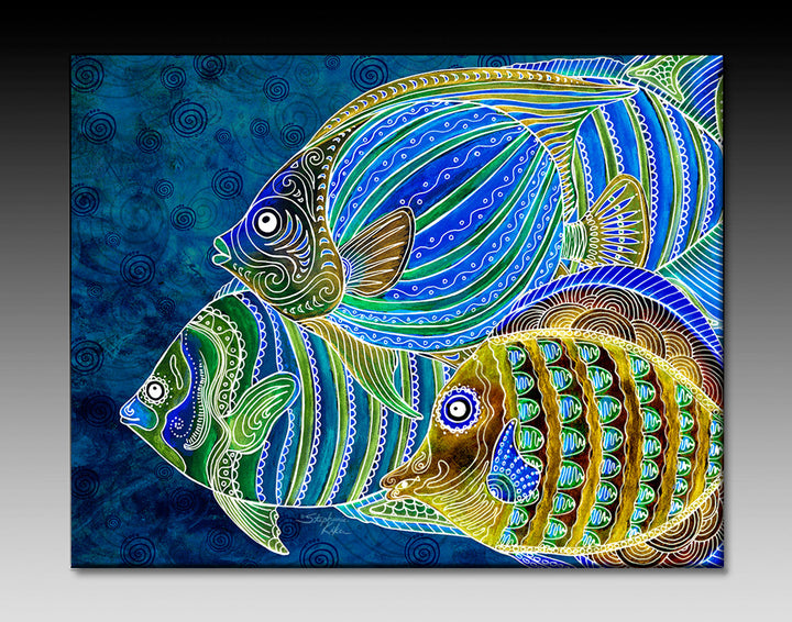 Fish School Ceramic Tile