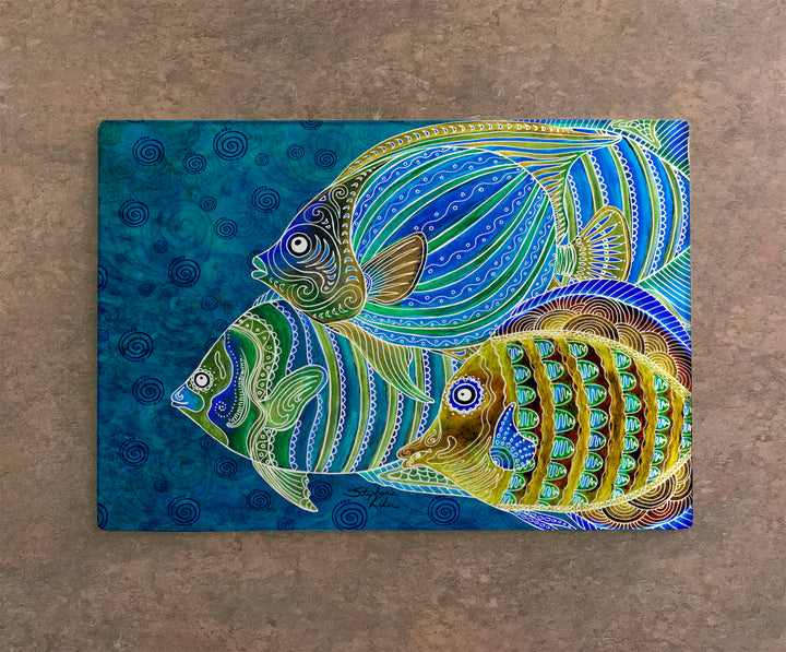 Fish School Cutting Board