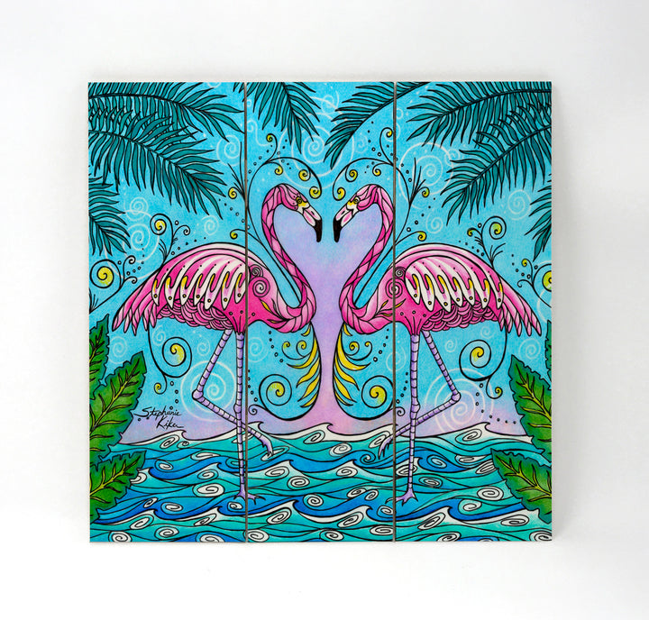 Flamingo Love Wall Art