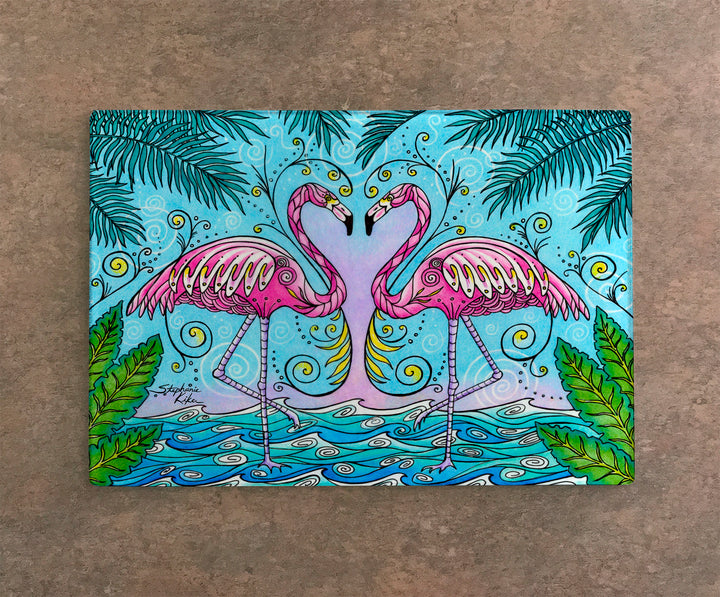Flamingo Love Cutting Board