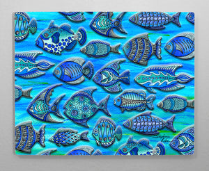 Funky Fish Aluminum Wall Art