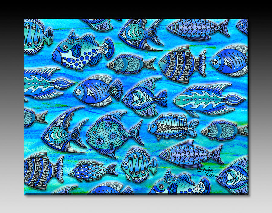 Funky Fish Ceramic Tile