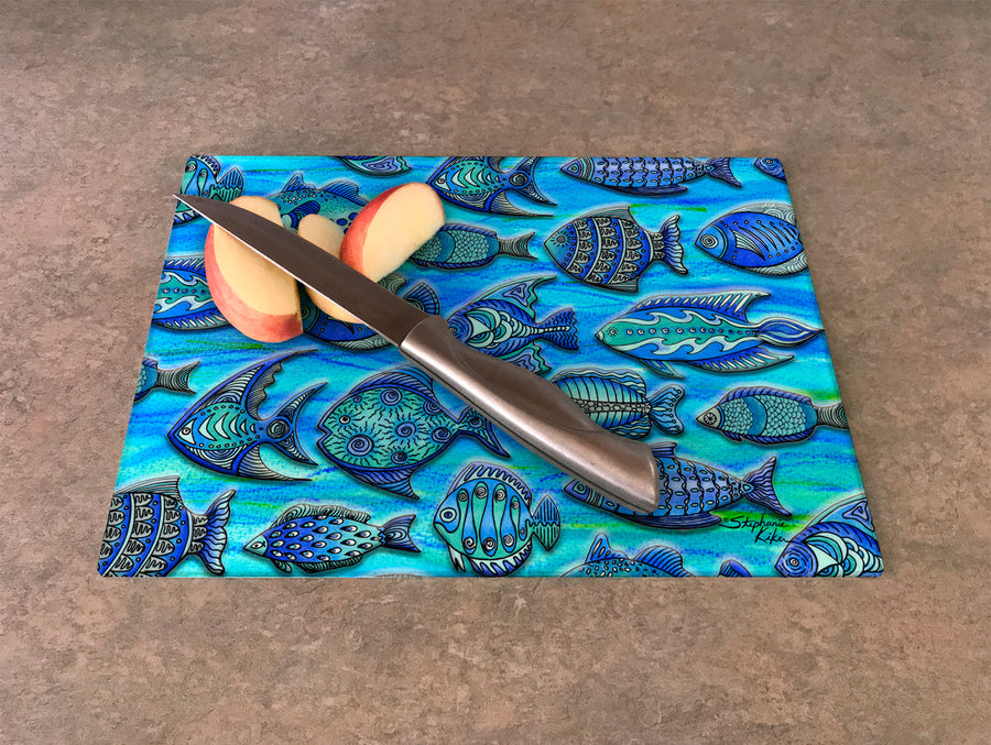 Funky Fish Cutting Board