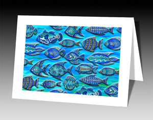 Funky Fish Notecard