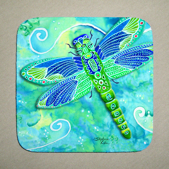 Green Dragonfly Coaster