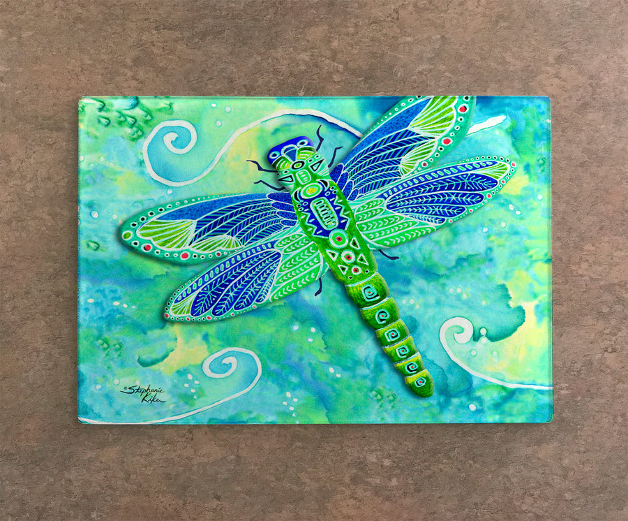 Green Dragonflies Cutting Board