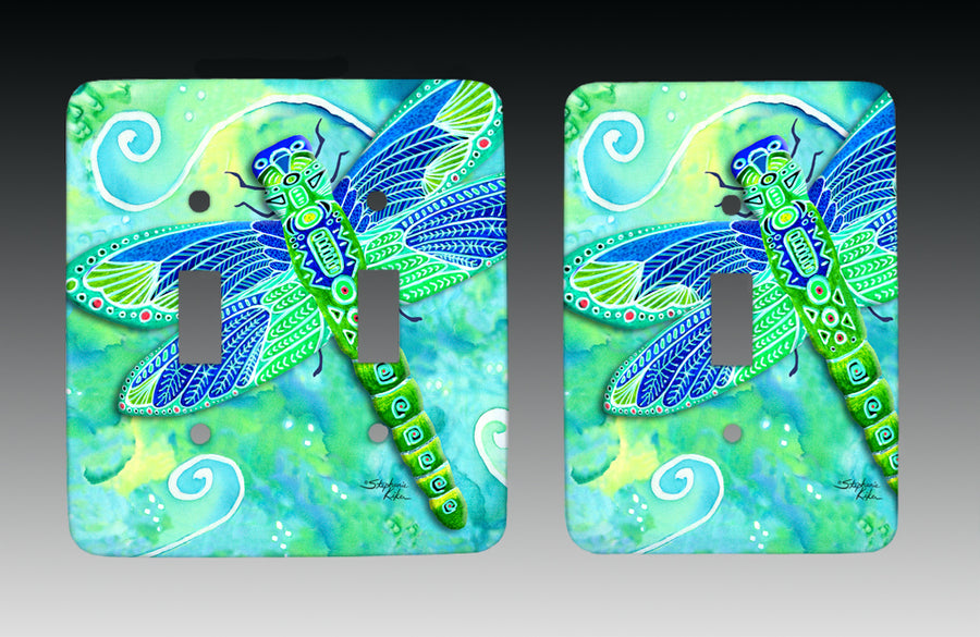 Green Dragonfly Light Switch Cover