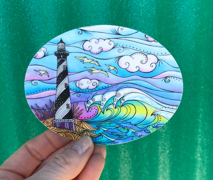 Hatteras Waves Sticker
