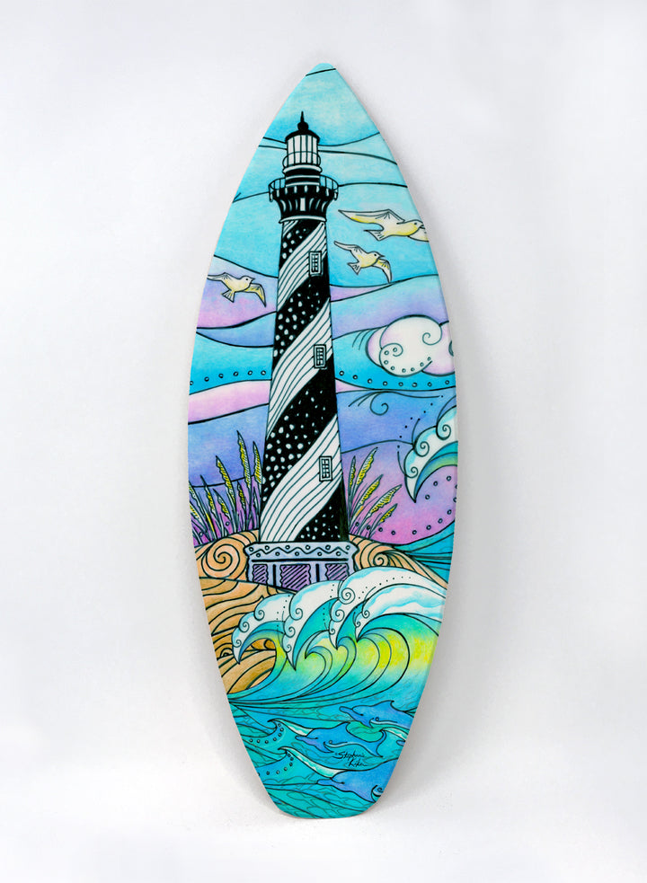 Hatteras Waves Surfboard Wall Art