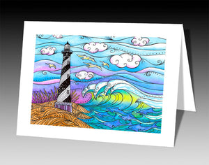 Hatteras Waves Notecard