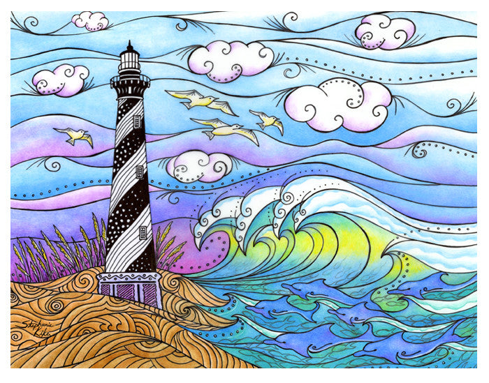 Hatteras Waves Print