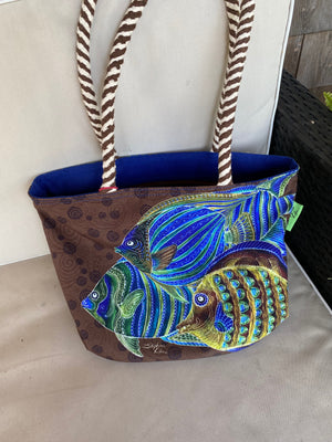 Fish School Small Handbag