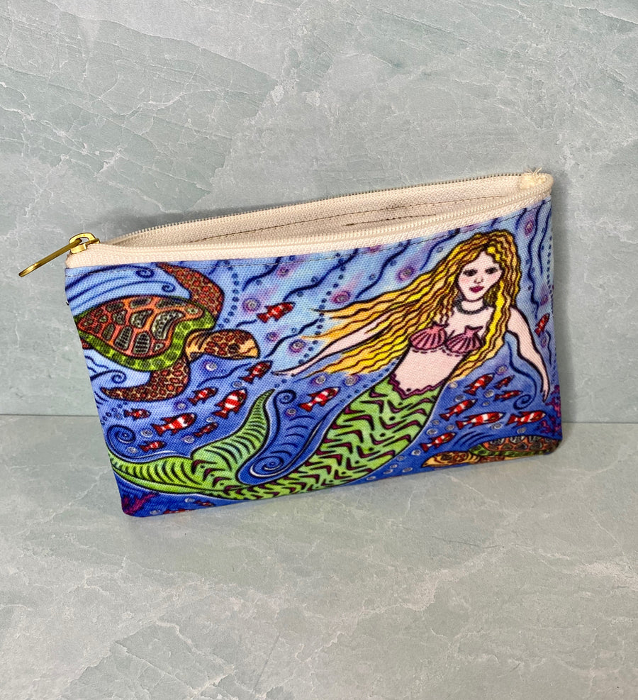 Mermaid and Turtles Pouch
