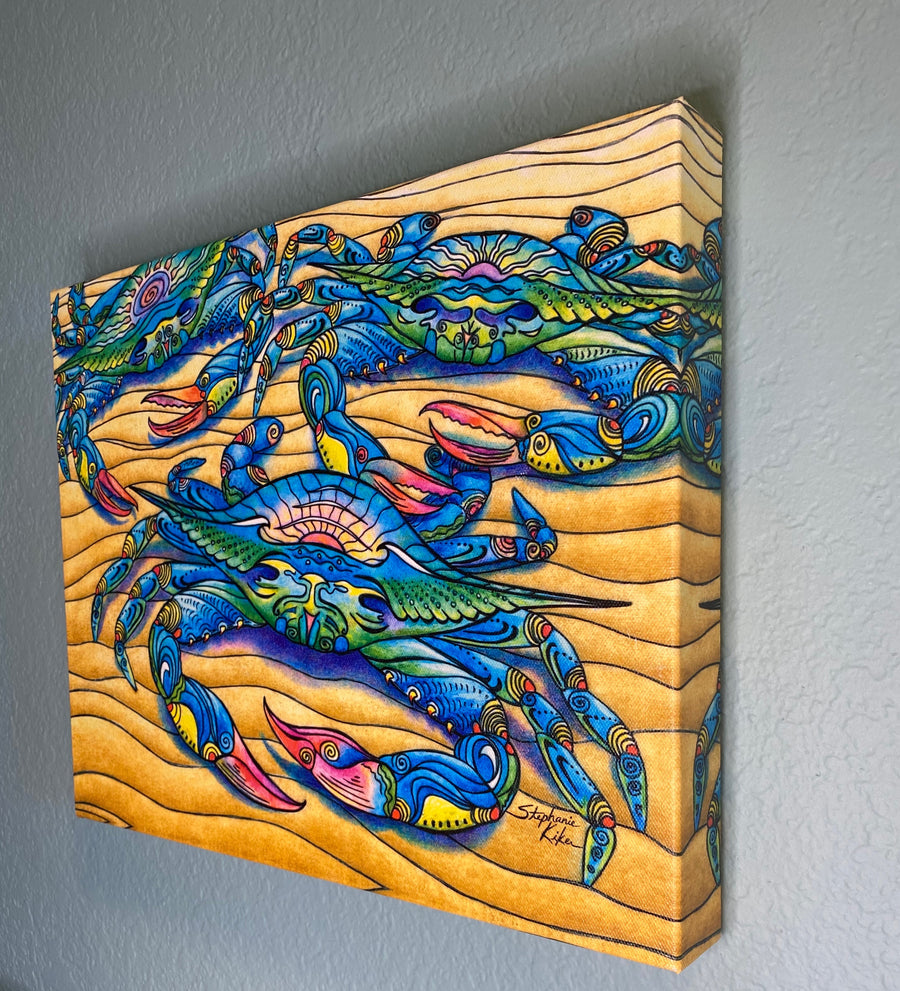 Blue Crabs Canvas