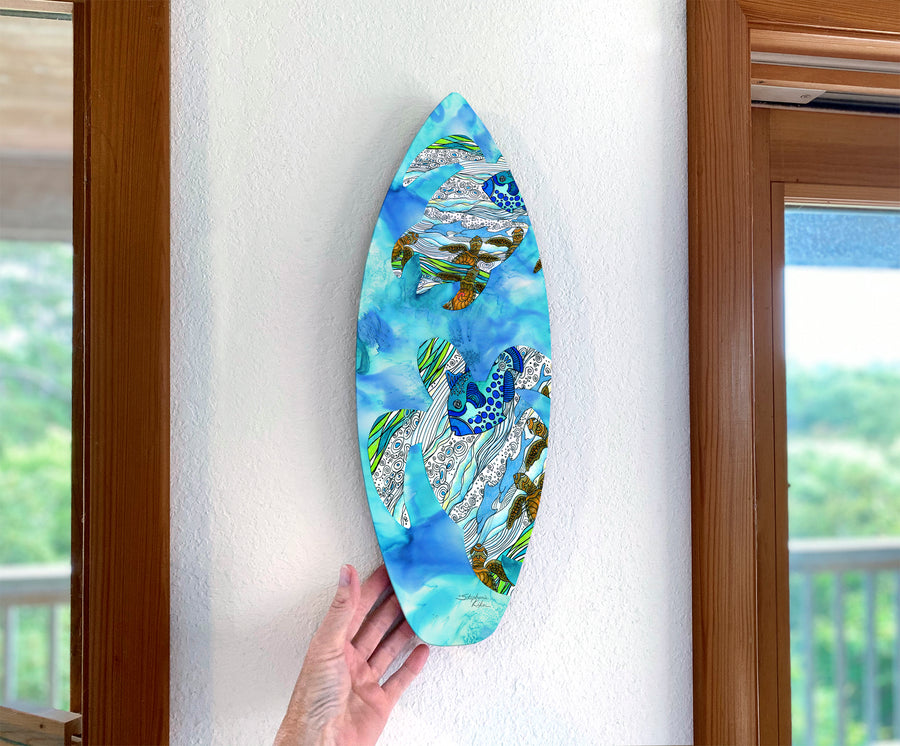 Into The Sea Surfboard Wall Art