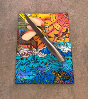 Oceanfront Cutting Board