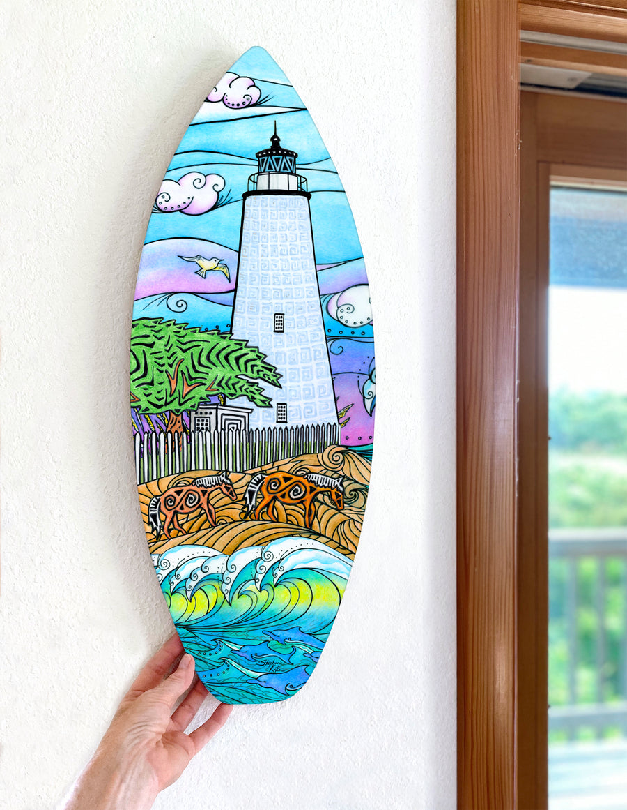 Ocracoke Waves Surfboard Wall Art