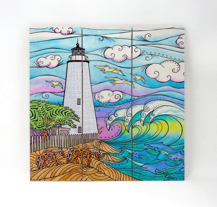 Ocracoke Waves Wall Art