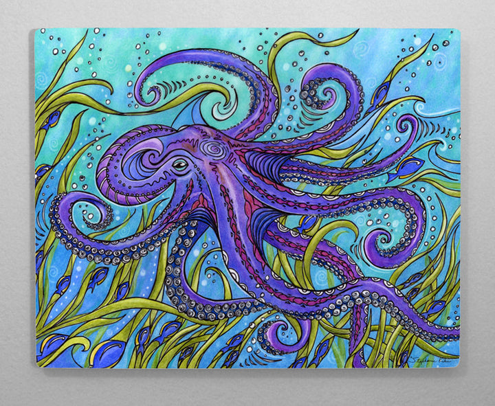 Octopus Aluminum Wall Art