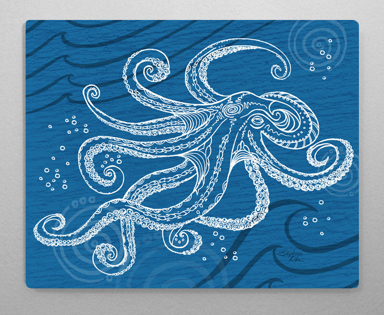 Octopus One Color Aluminum Wall Art