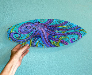 Octopus Surfboard Wall Art