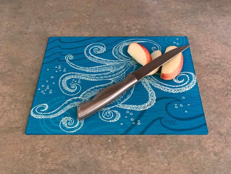 Octopus One Color Cutting Board