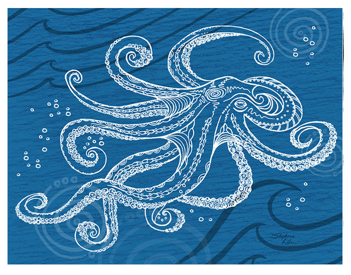 Octopus One Color Print