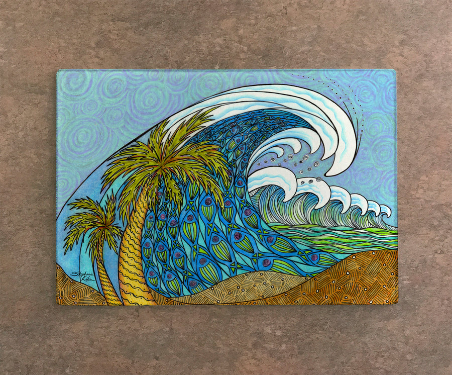 Palm Trees and Waves Cutting Board