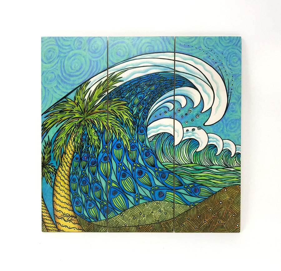 Palm Trees and Waves Wall Art