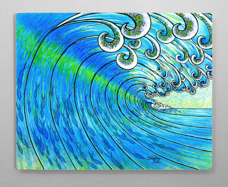 Party Wave Aluminum Wall Art