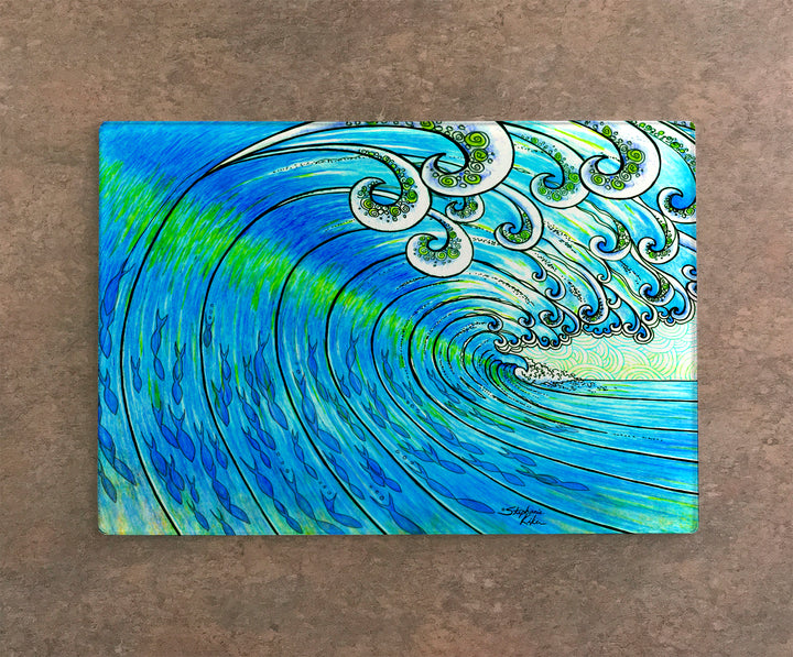 Party Wave Cutting Board