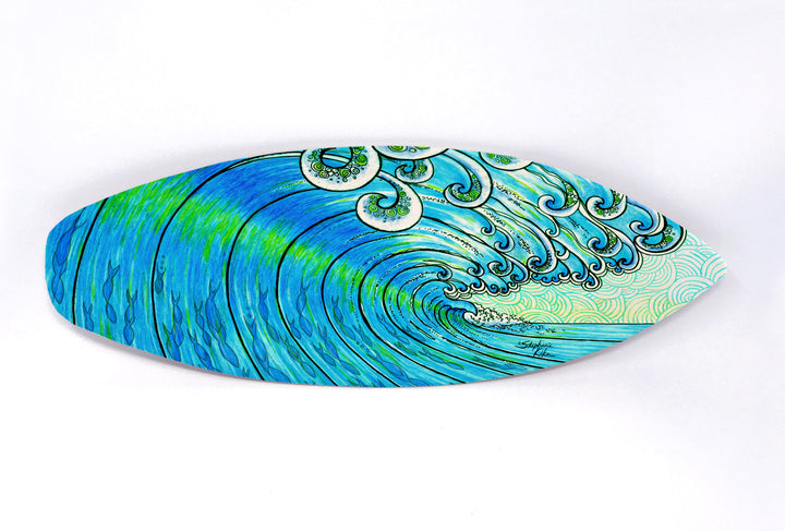 Party Wave Surfboard Wall Art