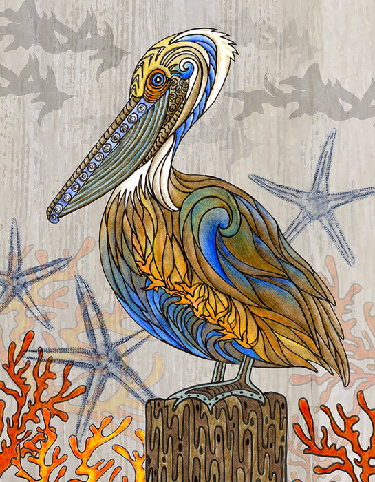 Pelican Perch Print