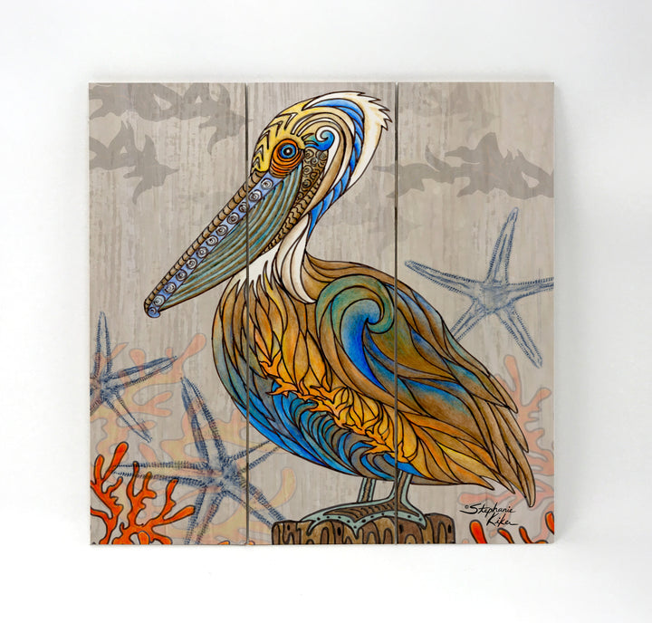 Pelican Perch Wall Art