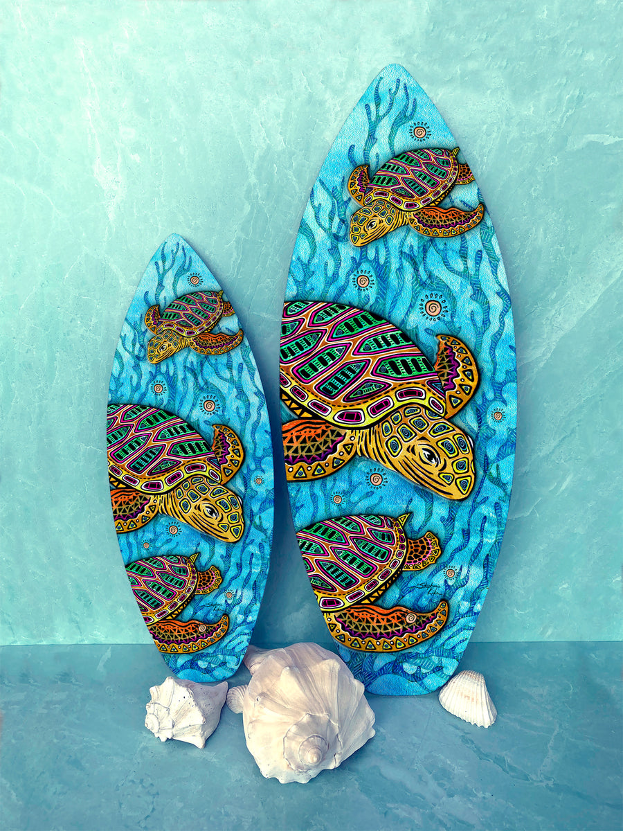 Primitive Loggerheads Surfboard Wall Art