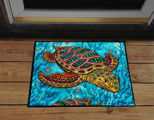 Primitive Loggerhead Door Mat