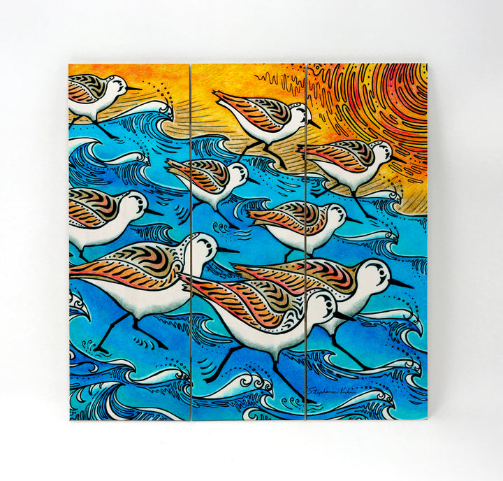 Sanderling Dance Wall Art