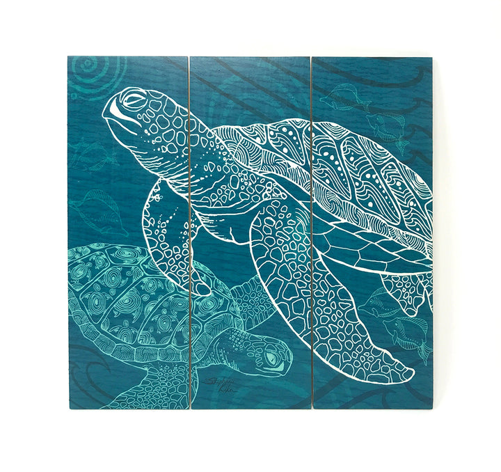 Sea Turtles One Color Wall Art