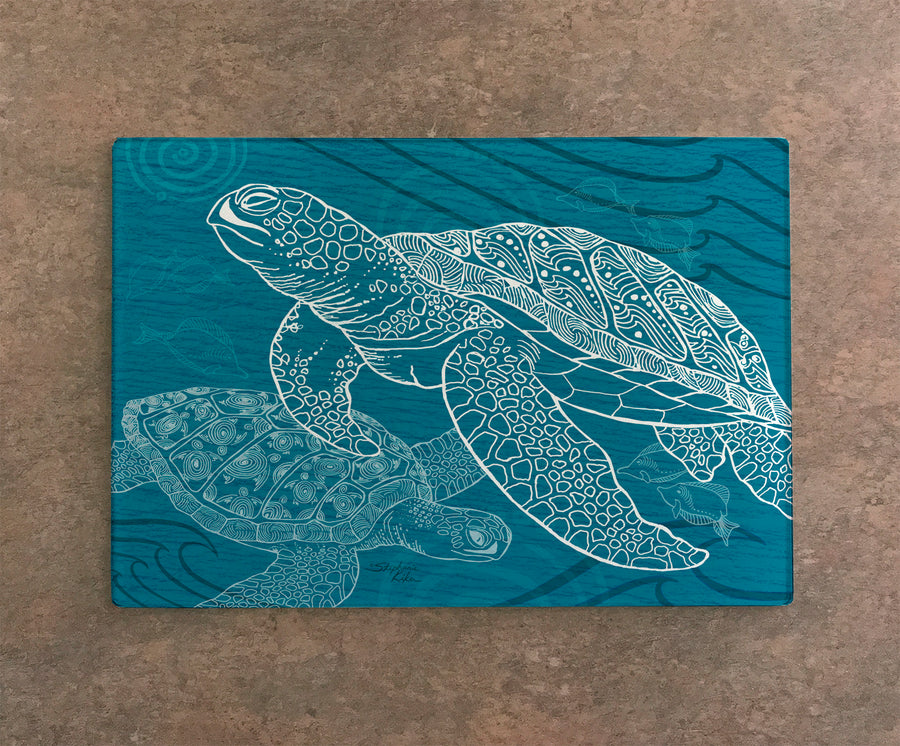 Sea Turtles One Color Cutting Board