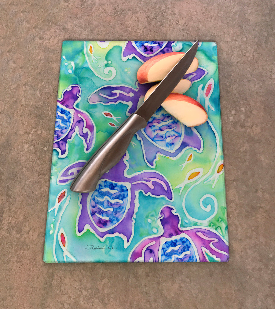 Sea Turtle Swim Cutting Board