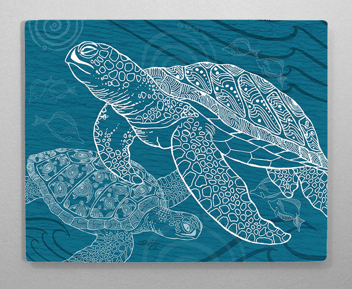 Sea Turtle One Color Aluminum Wall Art